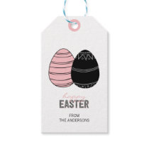 Folk Happy Easter Eggs Gift Tags