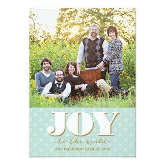 Folk Joy Christmas Card Holiday Photo Card