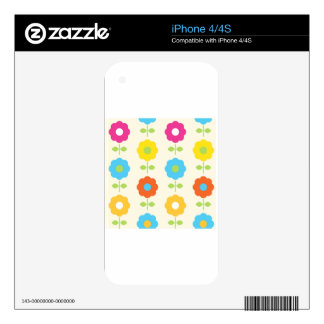 FOLK MAGICAL FLOWERS COLOR EDITION SKINS FOR THE iPhone 4S