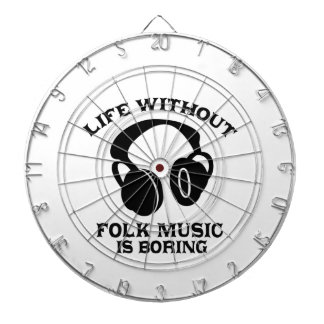 Folk Music designs Dartboard