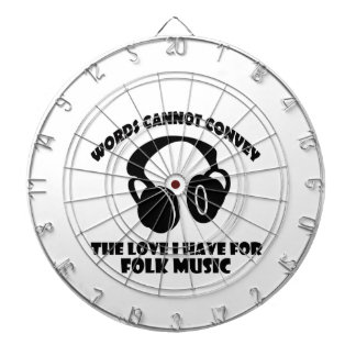 Folk Music designs Dartboards