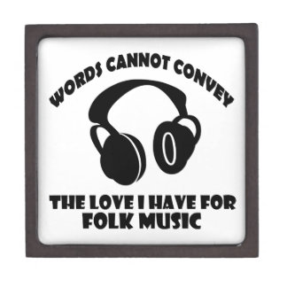 Folk Music designs Jewelry Box