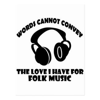 Folk Music designs Postcard