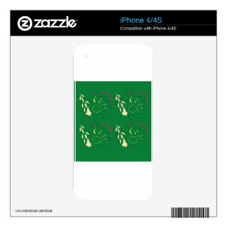 Folk ornaments magical iPhone 4 decal