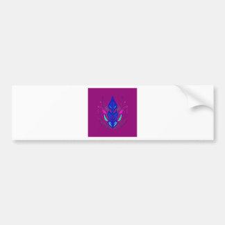 Folk Ornaments purple blue Bumper Sticker