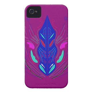 Folk Ornaments purple blue Case-Mate iPhone 4 Case