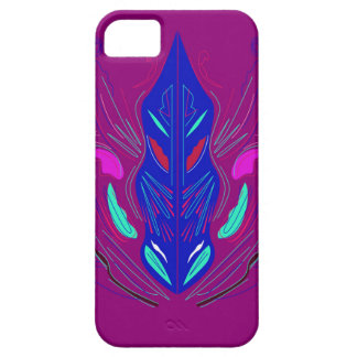 Folk Ornaments purple blue iPhone SE/5/5s Case