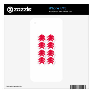 FOLK Ornaments red white Decals For iPhone 4S