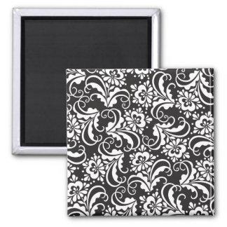 folk pattern 2 inch square magnet