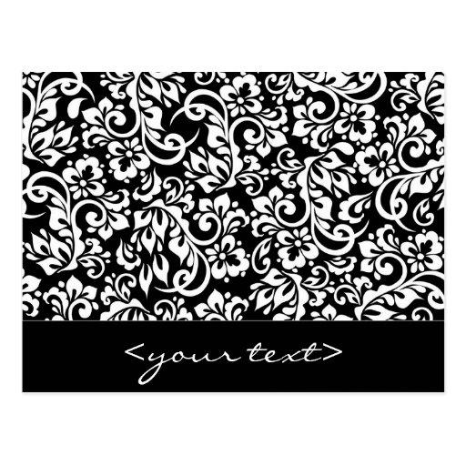 folk pattern postcard