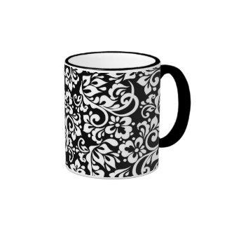 folk pattern ringer mug