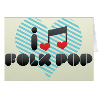 Folk Pop fan Greeting Card