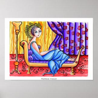 Folk Portrait of Madame Recamier Poster