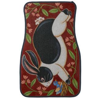 Folk Rabbit Car Mat