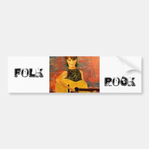 Folk Rock Car Bumper Sticker