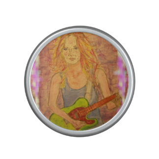 folk rock girl Art Bluetooth Speaker