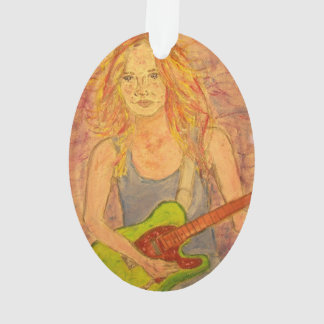 folk rock girl Art Ornament