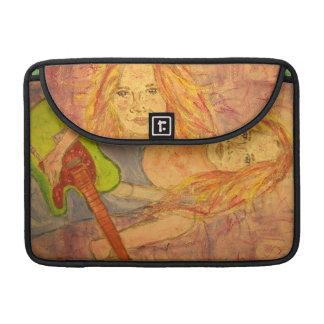folk rock girl art sleeve for MacBook pro