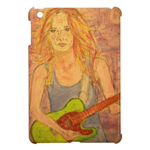 folk rock girl playin' electric art iPad mini covers