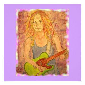 folk rock girl playin' electric card