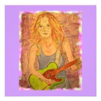 folk rock girl playin' electric invite