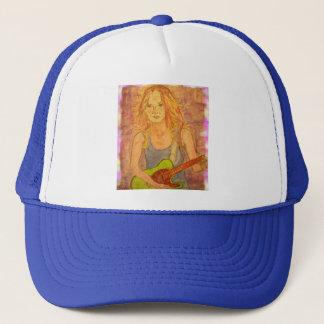 folk rock girl playin' electric trucker hat