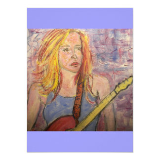 folk rock girl reflections card