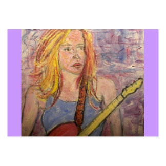 folk rock girl reflections large business card