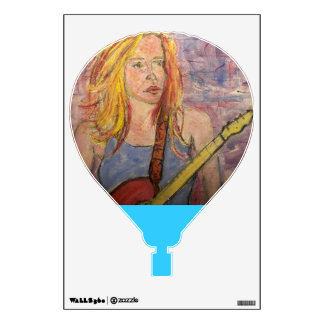 folk rock girl reflections wall decal