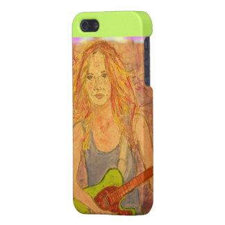 folk rock girl watercolour iPhone SE/5/5s case