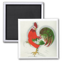 Folk Rooster #1 Magnet
