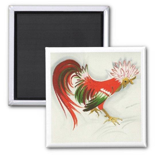 Folk Rooster #5 Magnet
