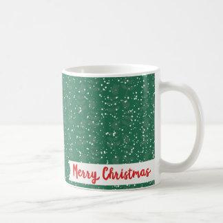 Folk Santa Claus Snowy Merry Christmas Coffee Mug