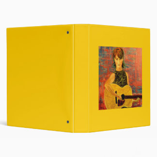 folk singer girl binder