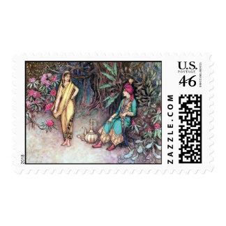 Folk Tales of Bengal Vintage Fine Art Postage Stamps