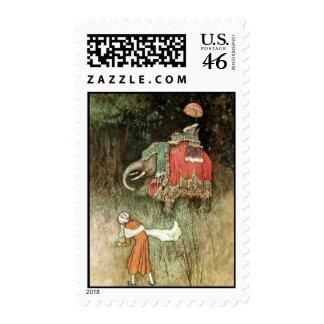 Folk Tales of Bengal Vintage Fine Art Postage Stamp