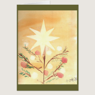 Folkart Christmas Star Card
