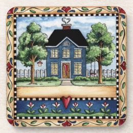 Folkart Country Home Coaster Set of 6