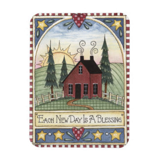 Folkart Each New Day is a Blessing Magnet