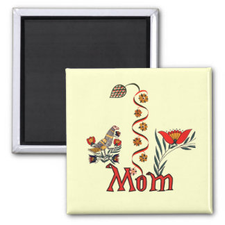 Folkart Mom T-shirts and Gifts 2 Inch Square Magnet
