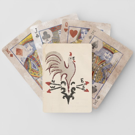 Folkart Rooster Playing Cards