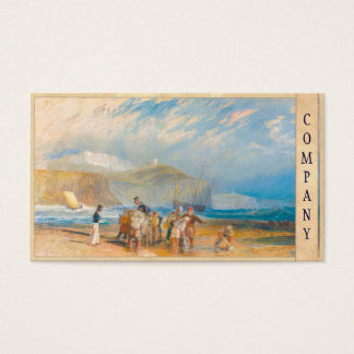 Folkestone Harbour and Coast to Dover, 1829 Business Card
