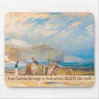 Folkestone Harbour and Coast to Dover, 1829 Mouse Pads