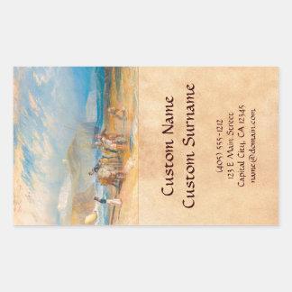 Folkestone Harbour and Coast to Dover, 1829 Rectangular Sticker