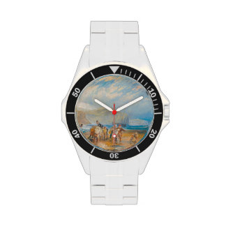 Folkestone Harbour and Coast to Dover 1829 Wristwatch