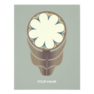 FOLKLORE FLOWER COMPLIMENT CARD GREY