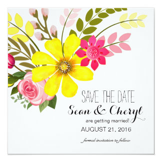 Folklore Flower Garden Save the Date Card