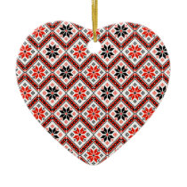 Folklore pattern ceramic ornament