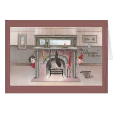 Folks Check Stocking Status Vintage Christmas Card at Zazzle