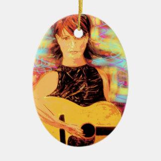 folksinger  girl art ornament